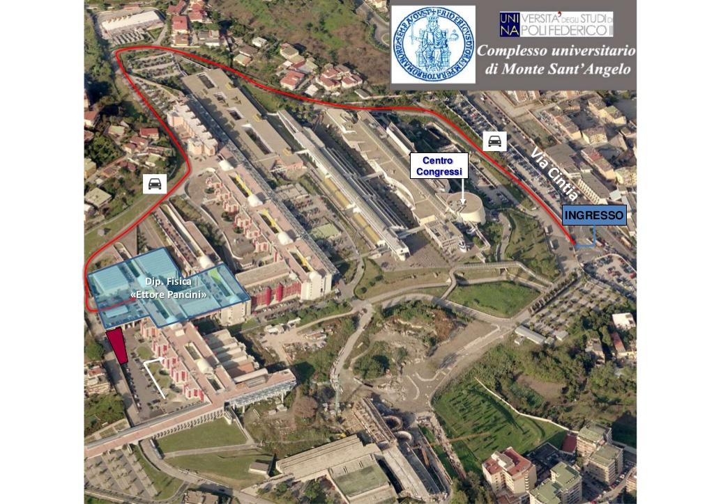 """Dipartimento di Fisica """"Ettore Pancini"""" - Come raggiungerci - Mappa MSA"""
